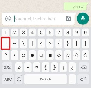 WhatsApp leere Nachrichten ohne Inhalt schreiben (Prank)