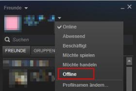 Steam offline anzeigen: Unsichtbar machen für Freunde