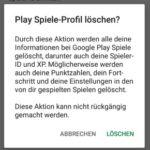 Alle Google Play Spielstände löschen