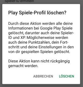 Google Play Spielstände Löschen