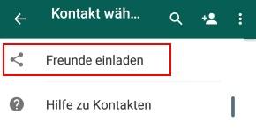 whatsapp kontakte finden: person ohne nummer über name suchen?, Einladung