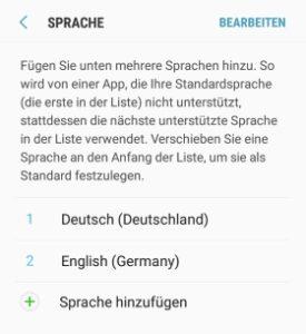Play Store Sprache ändern