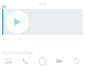 Snapchat Sprachmemo