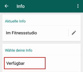 Whatsapp Verfügbar Was Bedeutet Der Status