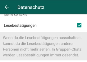 Whatsapp Status Gesehen Verbergen Lesebestätigung Deaktivieren