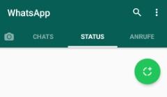 Mehrere Bilder in WhatsApp Status einfügen